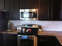 get inspired by herringbone backsplash for your kitchen microwave cabinet and dark kitchen cabinets with