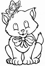 An excellent picture to help teach your kid to color inside the lines and develop a steady hand. Cat Coloring Page Animals Town Animals Color Sheet Cat Printable Coloring