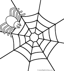 Spider on web - Coloring Page (Insects)