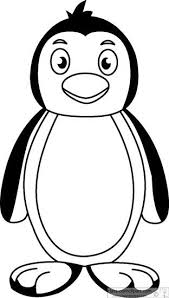 penguins clipart black and white. Penguin Outline Clipart Classroom Black And White Images Intended Penguins