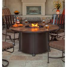 ow lee santorini fire pit amazing 54 inch round dining table by ow furniture inside 2