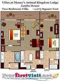 Floor Plan Two Bedroom Villa Animal Kingdom Lodge Jambo House From  Yourfirstvisit.net