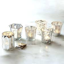 silver votive candle holders silver mercury glass votive candle holders