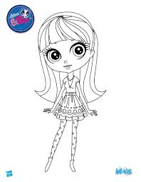 Small Picture LITTLEST PET SHOP coloring pages 12 LPS figurine dolls online