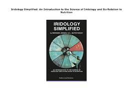Dr Bernard Jensen Iridology Chart Iridology Simplified An Introduction To The Science Of