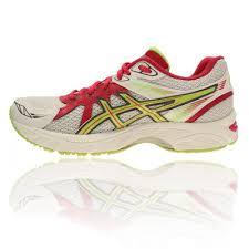 Discount Womens White Asics Gel Chart 2 Running Shoes R72d6