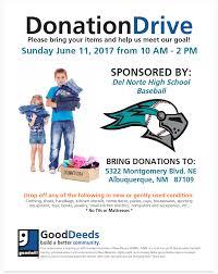 Dnhs Baseball Goodwill Fundraiser Del Norte High School