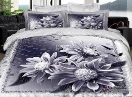 3d blue gray grey silver fl elegant comforter bedding set queen comforters sets duvet cover quilt bed linen sheet bedspread oil painting bedclothes