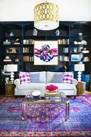 abstract artwork purple persian rug built in bookshelves dark blue how to hang artwork in your