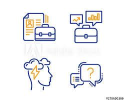 Vacancy Mindfulness Stress And Business Portfolio Icons
