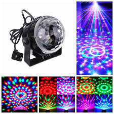 control rgb led stage lamps crystal magic ball sound control laser stage effect light party