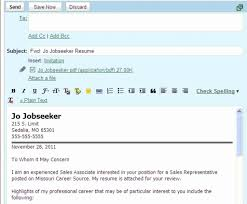 How To Email Your Resume Emailing Resume And Cover Letter Unique How To Email A Resume And 9