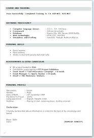Resume Format For Student Resume Resume Models For Mca Freshers Free ...