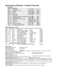 2010 Arizona Wildcats - Football Press Kit - University of Arizona ...