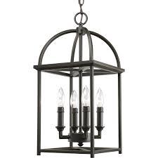 interior lantern lighting. Progress Lighting P3884-20 4-Light Piedmont Foyer Lantern, Antique Bronze - Ceiling Pendant Fixtures Amazon.com Interior Lantern E