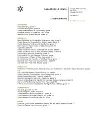 Accomplishments In Resume Resume For Your Job Application