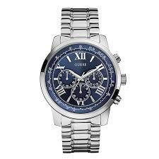 men s guess watches h samuel guess men s horizon stainless steel blue dial watch product number 2317451