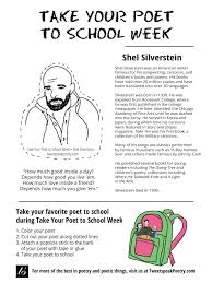 A Light In The Attic Poems List Take Your Poet To School Shel Silverstein Printable