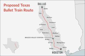 Houston Proposed Light Rail Map Texas Bullet Train Developers Pick Northwest Mall For