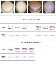 Www Sweetsusy Com Cakes Fondant Pricing Chart