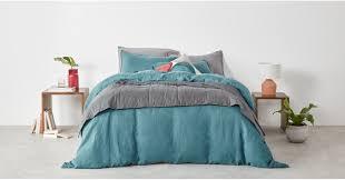 brisa 100 linen bed set king dark teal uk bedding sets linen bedding made com