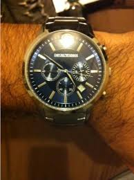 "men s emporio armani chronograph watch ar2448 watch shop comâ""¢ having reviewed the range of armani mens chronograph watches this one stood out the most i wanted to get my boyfriend a watch for his bday something that"