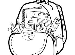 school supplies coloring page back to school coloring pages free image cartoon school supplies coloring page