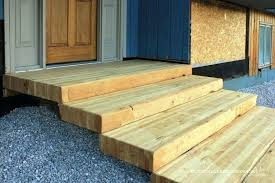 per how to build wooden steps wood over concrete how to build stairs