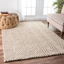 breakthrough burlap area rug handmade nuloom eco natural fiber jute chevron ivory 8 6 x 11