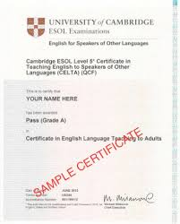 Cambridge Certificate Tefl Certification
