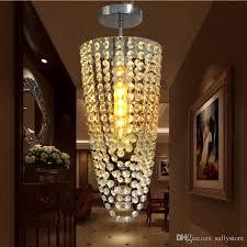 led 1 light chrome modern k9 crystal chandelier lighting d17 h45cm ac110v 256v transpa color 5w chandelier light metal pendant lights pendant light cord