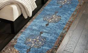 home gala medallion turquoise rectangle indoor runner rug 2x8 cm area 2