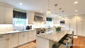 grey granite countertops with white cabinets. If Seeking Sophisticated Look To Go Along With Your White Cabinets Ilhabella Granite Counters Can Be The Right Choice For You It Is Light Grey Countertops