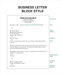 Bunch Ideas of Example A Business Letter In Block Style With Free