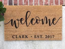 Personalized Doormat // Hand-Painted Door Mat // Personalized Welcome Mat //