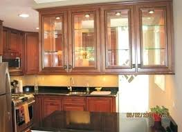 kitchen cabinet with glass fronts