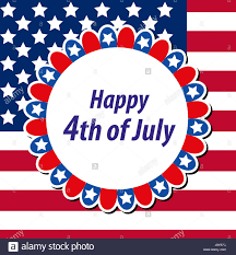Happy 4th July Greeting Card Poster American Independence Day
