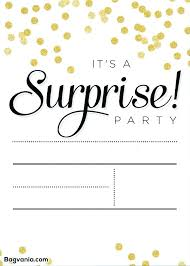 Word Template For Birthday Invitation Free Surprise Party Invitation Templates Bahiacruiser
