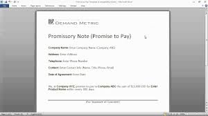 Promise To Pay Letter Promise To Pay Form YouTube 10