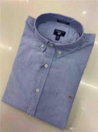 Mens Designer Grey Shirt 2019 Gant New Mens Shirt Mens Designer Button Shirts Gt Brand Oxford Spinning Long Sleeve Polo Shirt Classic Casual Lapel High Quality Polo Shirt From