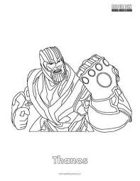 Thanos Fortnite Coloring Page Coloring Square
