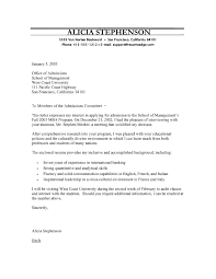 school cover letter mba program cover letter
