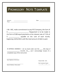 Sample Promissory Note How Write A Promissory Note Sample Of Issue Representation Template 4