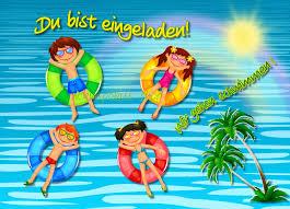Einladung Kindergeburtstag Schwimmbad Einladungen Geburtstag Ideen