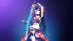 Anime warrior girl ...