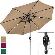for solar led patio umbrella