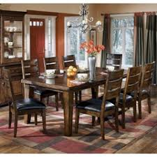 Larchmont Dark Brown Rectangular Extension Dining Table Ashley Larchmont  Collection