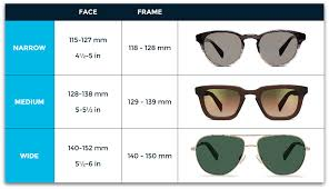 Sunglasses Frame Size Chart Frame Size Guide Shopping Guide