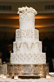 Cakes Desserts Photos Classic Wedding Cake With Floral Pattern
