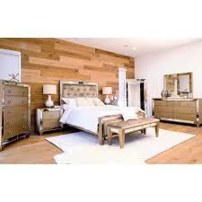 Mirrored Bedroom Set House Of Hampton Levitt Mirrored Tufted Platform 8 Piece Bedroom